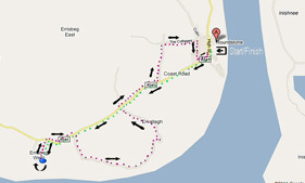 Roundstone Bay 8K Route Map
